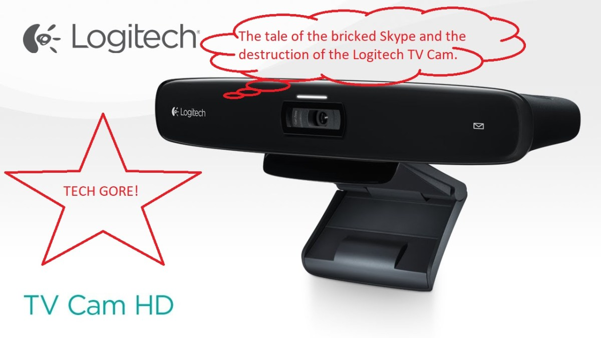 Logitech Skype Webcam Gore - Destroyed